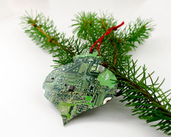 circuit board bulb ornament