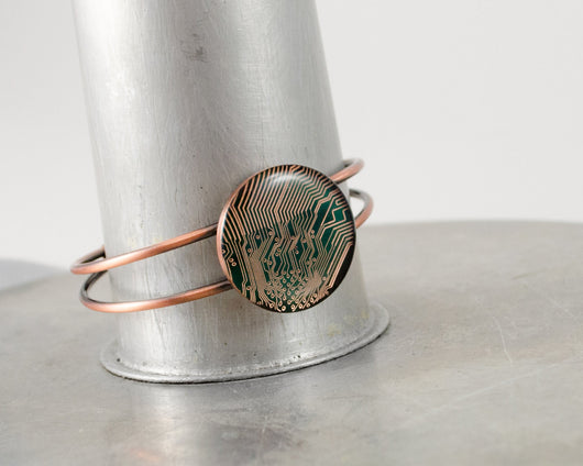 Circuit Board Bracelet - Copper Bangle