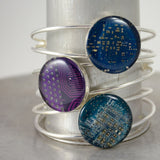 circuit board bangle bracelets