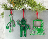 Computer Themed Ornament Set