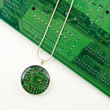 Circuit Board Necklace and Ornament Holiday Gift Set