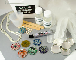 DIY kit to make your own circuit board and resin necklaces