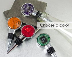 multiple color circuit board wine bottle stopper