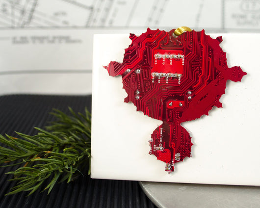 Mandelbrot Set Fractal Circuit Ornament