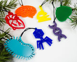 Biology - Set of 7 Ornaments