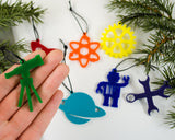 Physics and Engineering - Set of 7 Ornaments