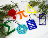 Math - Set of 7 Ornaments
