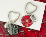 Circuit Keychain with Heart Charm