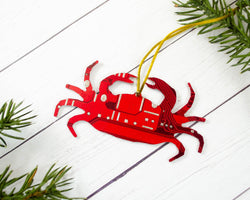 Maryland Crab Circuit Board Ornament