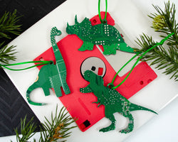 Dinosaur Circuit Board Ornament Gift Set