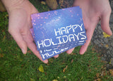 Happy Holidays Geeky Greeting Card - Blank Inside
