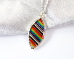 Marquise Shaped Rainbow Necklace