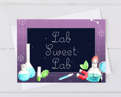 lab sweet lab card for congratulation scientists that join a new lab