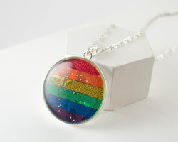 Giant Rainbow Circuit Board Necklace #2