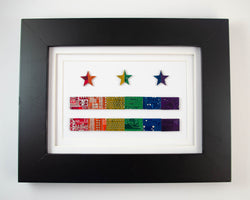 Rainbow DC Flag Circuit Board Wall Art