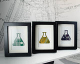 Mini Erlenmeyer Flask Framed Art