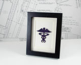 Mini Caduceus Framed Art - Nursing Symbol