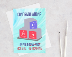 congrats on your scientist in training welcome new baby card