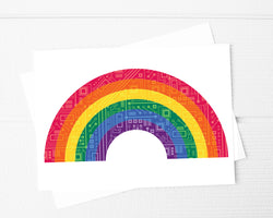 rainbow circuit board card