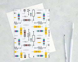 resistor greeting card