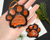 Circuit Board Tiger Paw Ornament