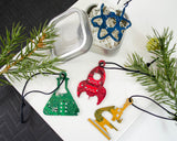 Science Ornament Gift Set of 4