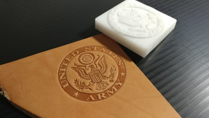 US Army Emblem Leather Stamp