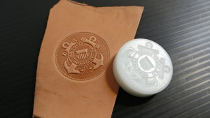 US Coast Guard Auxiliary Emblem Leather Stamp