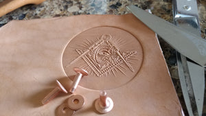 Masonic Square & Compass Leather Stamp