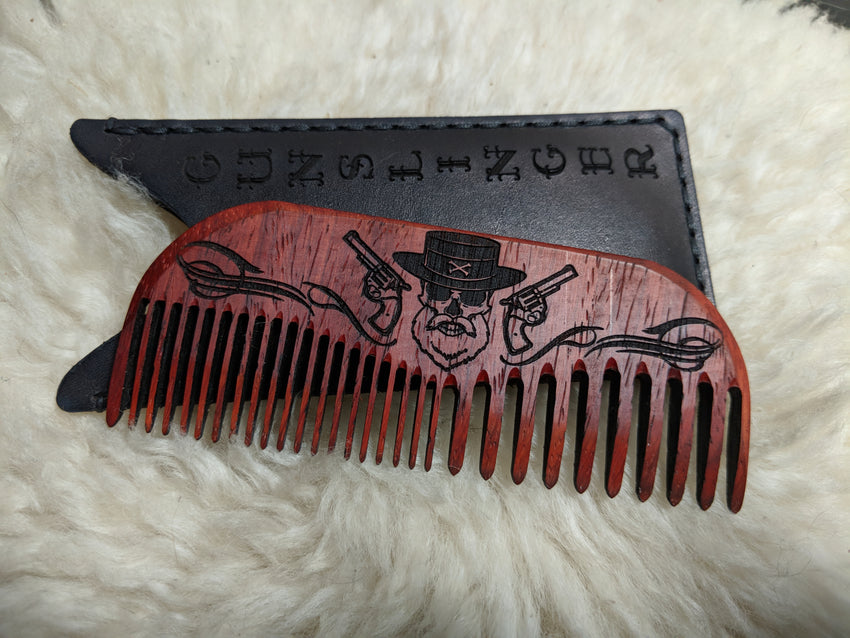 The Gunslinger Beard Comb