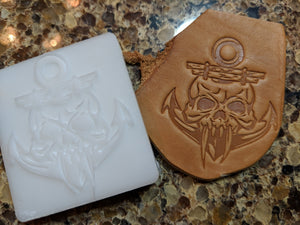 Skull N' Anchor Leather Stamp