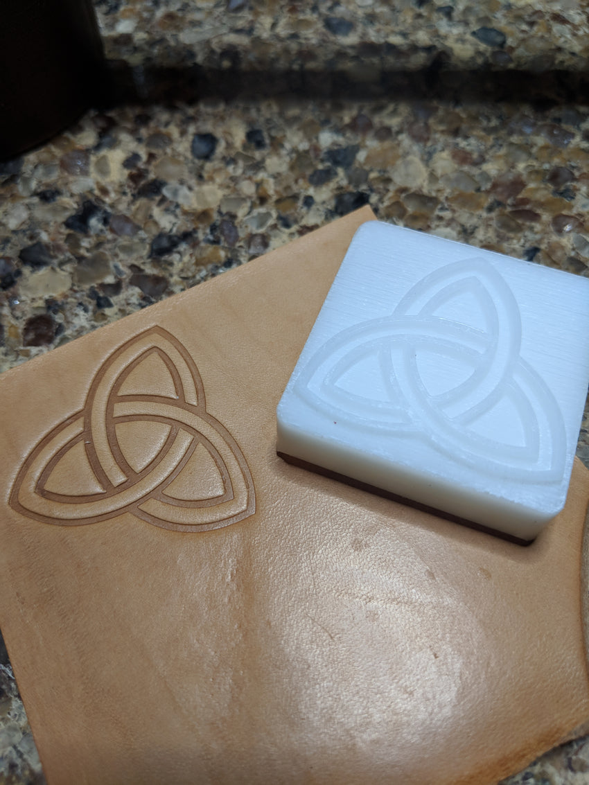 triquetra leather stamp