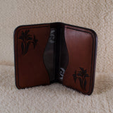 Leather Floral Card Wallet