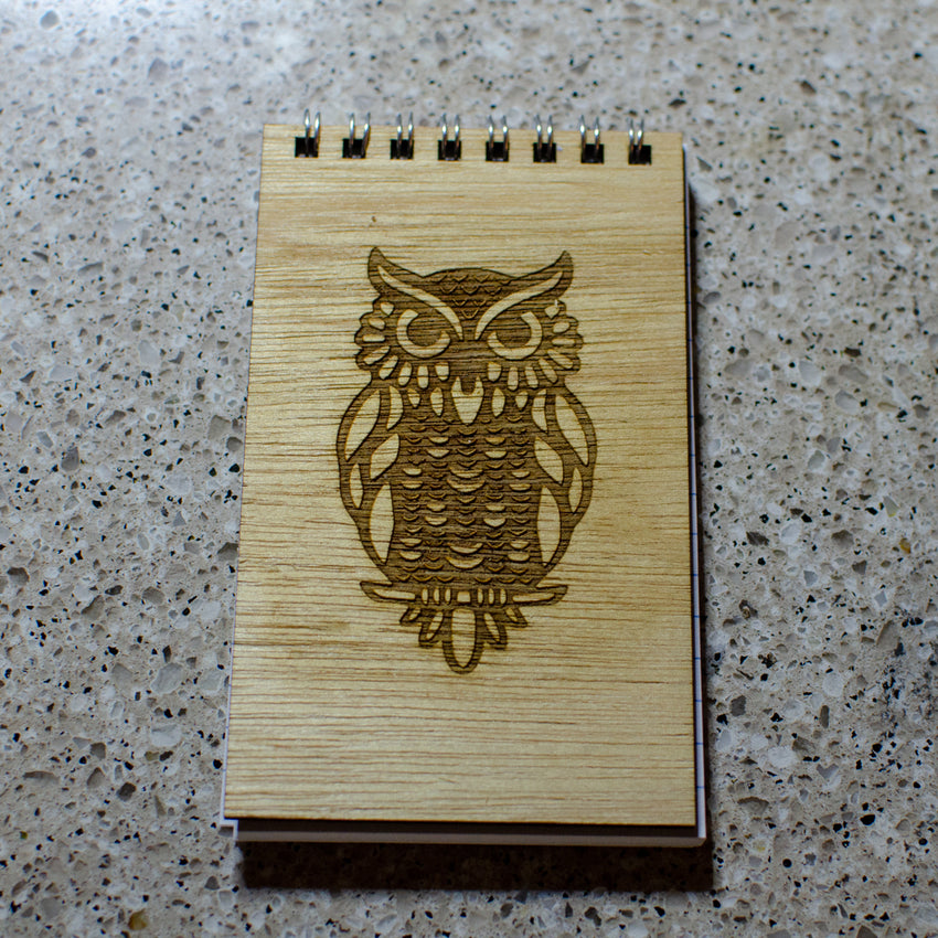 Wooden 3 x 5 Art Notepad