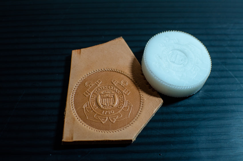 US Coast Guard Emblem Leather Stamp