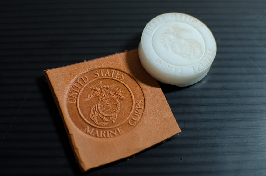 US Marines Emblem Leather Stamp