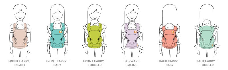 6-in-1 best baby carrier
