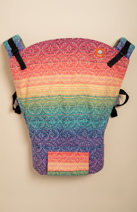Apple Blossom Prism White Weft Kaleidoscope Weave - Tula Signature Baby Carrier
