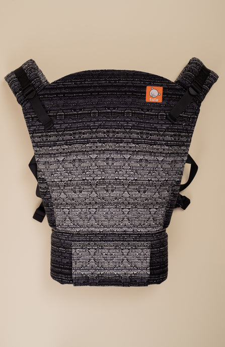 Apple Blossom Reflection Black Weft Kaleidoscope Weave - Tula Signature Baby Carrier