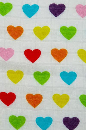 Rainbow Hearts Oliver - Tula Baby Blanket Set