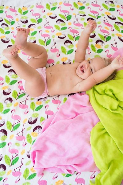 Coco Flamingo - Tula Cuddle Me Blanket - Baby Tula UK