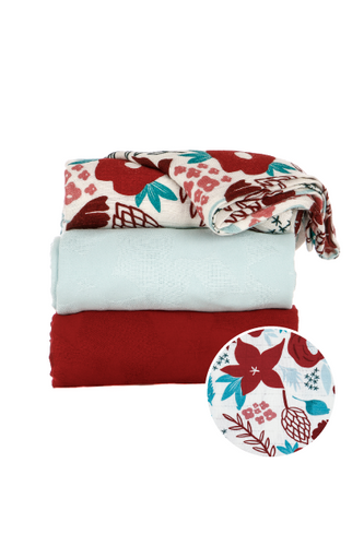 Poinsettia - Tula Baby Blanket Set