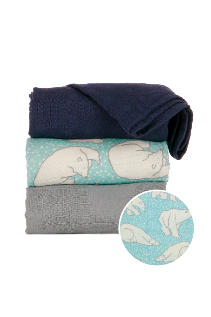 Polar Caps - Tula Baby Blanket Set - Baby Tula UK
