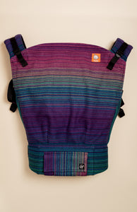 Apple Blossom Wovens + ChiciBeanz Handwoven Dreamer (black weft/twill weave) - Tula Signature Preschool Carrier