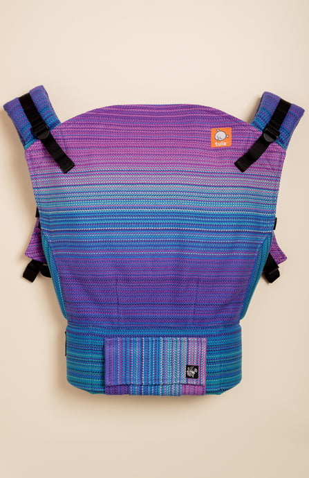 Apple Blossom Wovens + ChiciBeanz Handwoven Dreamer (bleu weft/twill weave) - Tula Signature Baby Carrier