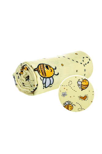 Bee Happy - Couverture Cuddle Me Tula