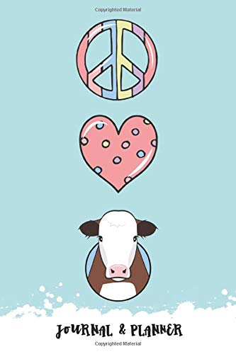 Peace Love Cattle Journal & Planner: Hereford Edition