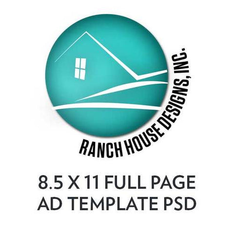 Template for Full Page Ad (8.5 x 11) with bleeds
