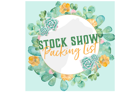 Stock Show Packing List (Printable)