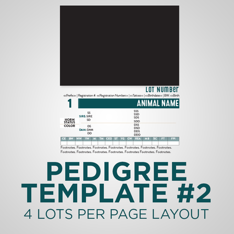 Sale Animal Pedigree Template - Version 2